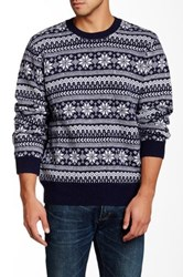 Barque Snowflake Sweater Blue