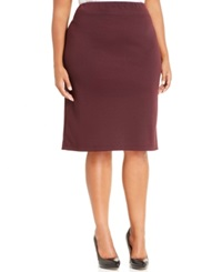 Style And Co. Plus Size Ponte Knit Pencil Skirt Only At Macy's Rhone