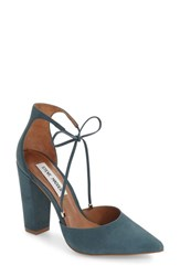 Steve Madden Women's 'Pamperd' Lace Up Pump Blue Nubuck