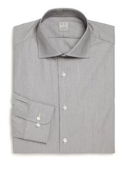 Ike Behar Regular Fit Micro Check Dress Shirt