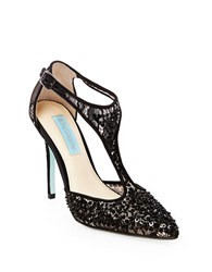 Betsey Johnson Eliza Embellished Pointed Toe Pumps Black