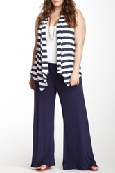 24 7 Comfort Solid Palazzo Pant Plus Size Blue