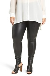 Lysse Plus Size Women's High Waist Faux Leather Leggings