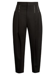 Haider Ackermann Orbai Dropped Crotch Wool Trousers Black