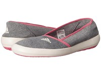 Adidas Boat Slip On Sleek Medium Grey Heather Chalk White Super Blush Women's Shoes Gray