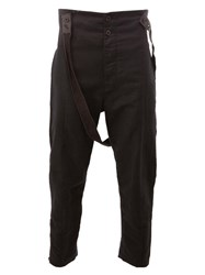 Lost And Found Ria Dunn Strap Detail Tapered Trousers Black