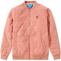 Adidas Quilted Bomber Jacket Pink