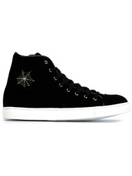 Charlotte Olympia 'Purrrfect' High Top Sneakers Black