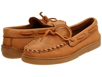 Minnetonka Moosehide Classic Natural Men's Clog Mule Shoes Beige