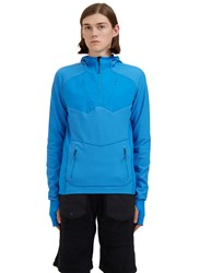 7L Mid Layer Hooded Top Blue