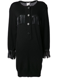 Yves Saint Laurent Vintage Two Button Velvet Dress Black