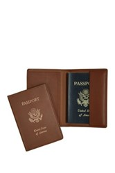 Royce Leather Genuine Rfid Blocking Passport Jacket Brown