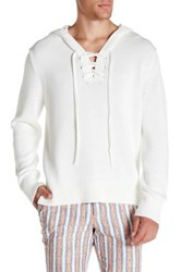 Mr Turk Julio Hooded Sweater White