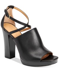 Calvin Klein Women's Baida Strappy Platform Sandals Women's Shoes Black