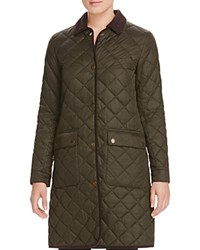 Barbour Border Quilted Long Coat 100 Bloomingdale's Exclusive Sage