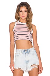 Unif Leland Crop Top Pink
