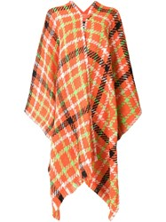 Boutique Moschino Checked Poncho Yellow Orange