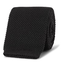 Paul Smith 6Cm Knitted Wool Tie Black