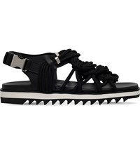 Dsquared Multi Strap Leather And Rope Sandals Black