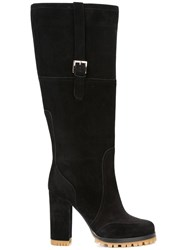 Red Valentino Buckle Detailing Boots Black