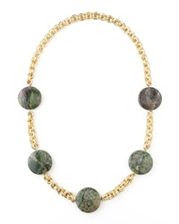 Devon Leigh Turpan Jade Coin Necklace Green