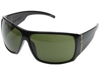 Electric Eyewear Big Beat Gloss Black M Grey Plastic Frame Sport Sunglasses Gray