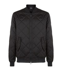 Armani Ea7 Quilted Bomber Jacket Male Black