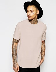 Asos Woven Boxy T Shirt In Pink With Short Sleeves Rose