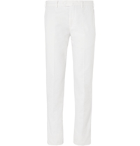 Loro Piana Slim Fit Cotton Blend Chinos White