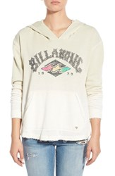 Junior Women's Billabong 'See The Light' Ombre Graphic Hoodie White Cap