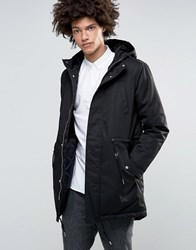 Minimum Wrexford Hooded Parka Fake Fur And Padded Lining Black