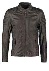 Gipsy Copper Leather Jacket Anthrazit Anthracite