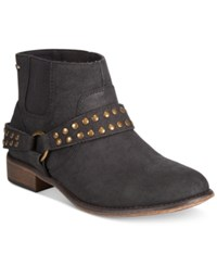 Roxy Weaver Western Ankle Booties Women's Shoes Black