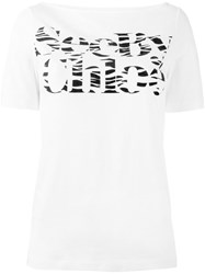 See By Chloe Logo Print T Shirt White