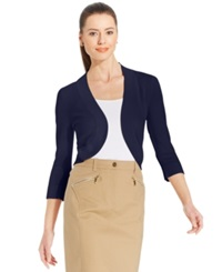 Jessica Howard Three Quarter Sleeve Open Front Cardigan Navy