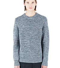 Lanvin Crew Neck Knitted Sweater Grey