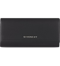 Givenchy Foldover Leather Wallet Black