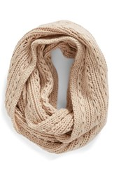 Lulu Junior Women's Cable Knit Infinity Scarf Light Pink