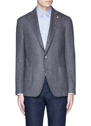 Lardini 'Leisure' Silk Cashmere Flannel Blazer Grey