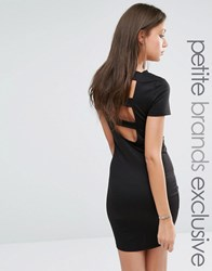 Noisy May Tall Open Back Strap Bodycon Dress Black