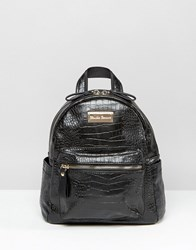 Claudia Canova Mini Backpack Black Snake