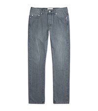 Officine Generale Straight Fit Selvedge Jeans Male Light Grey