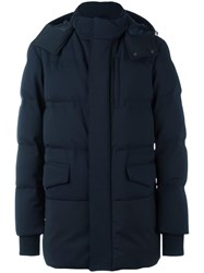 Pal Zileri Drawstring Hood Padded Coat Blue