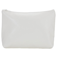 John Lewis White Small Zipped Cosmetic Purse