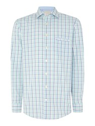 Paul Costelloe Check Classic Fit Button Down Shirt Multi Coloured