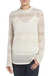 Hinge Women's Lace Bell Sleeve Top