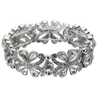 John Lewis Cubic Zircona And Crystal Stretch Cuff Bracelet Diamante