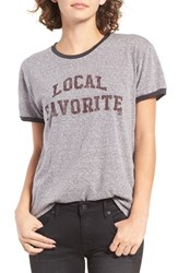 Billabong Women's Local Fave Graphic Ringer Tee