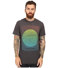 Vissla Lei Day Raglan 3 4 Sleeve Tee Black Men's T Shirt