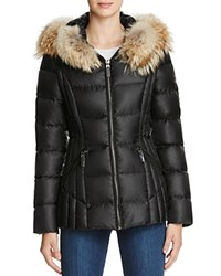 Dawn Levy Nikki Fur Trim Short Down Coat Black